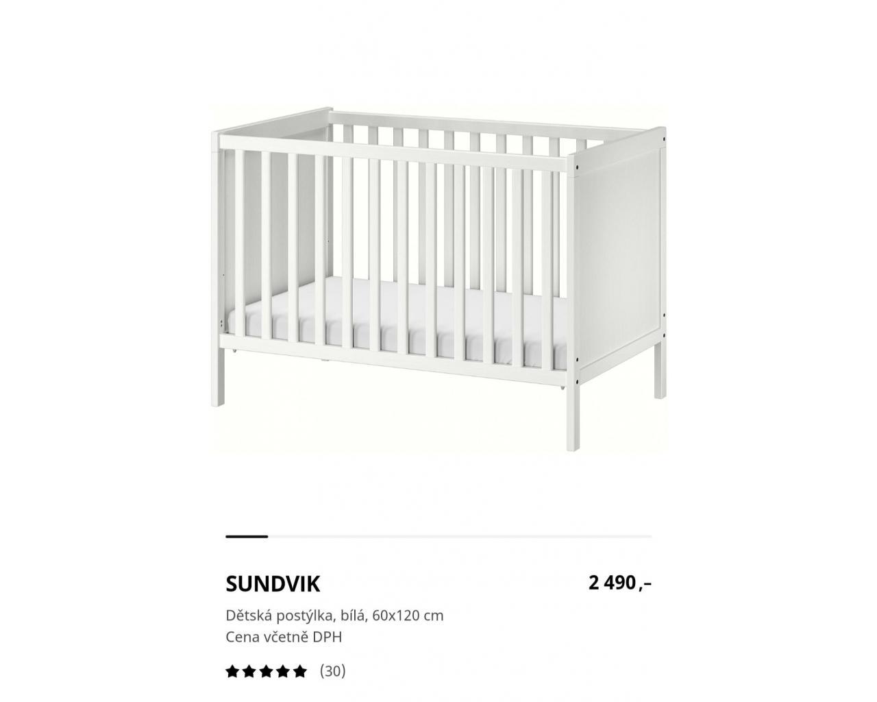Dětská postýlka Sundvik